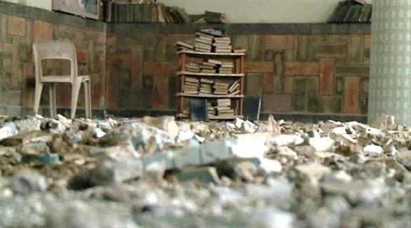 مليشيا الحوثي الإيرانية تفّجر مسجداً في حجة