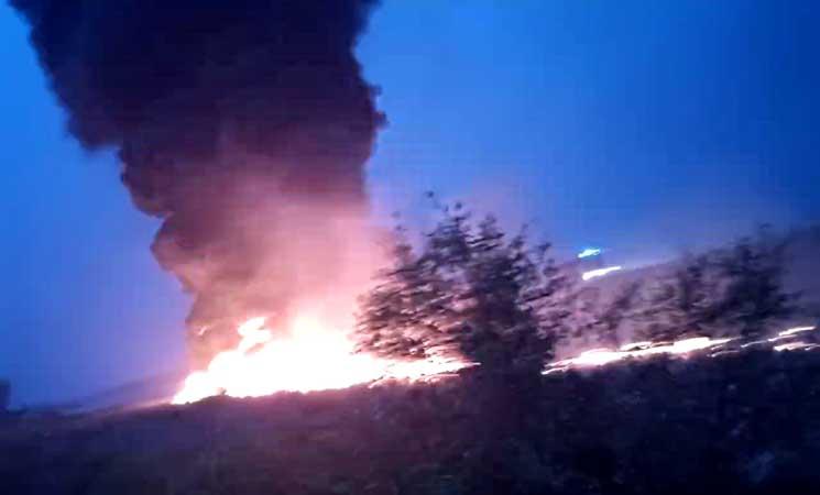 18 مصابًا نتيجة احتراق طائرة في سوتشي