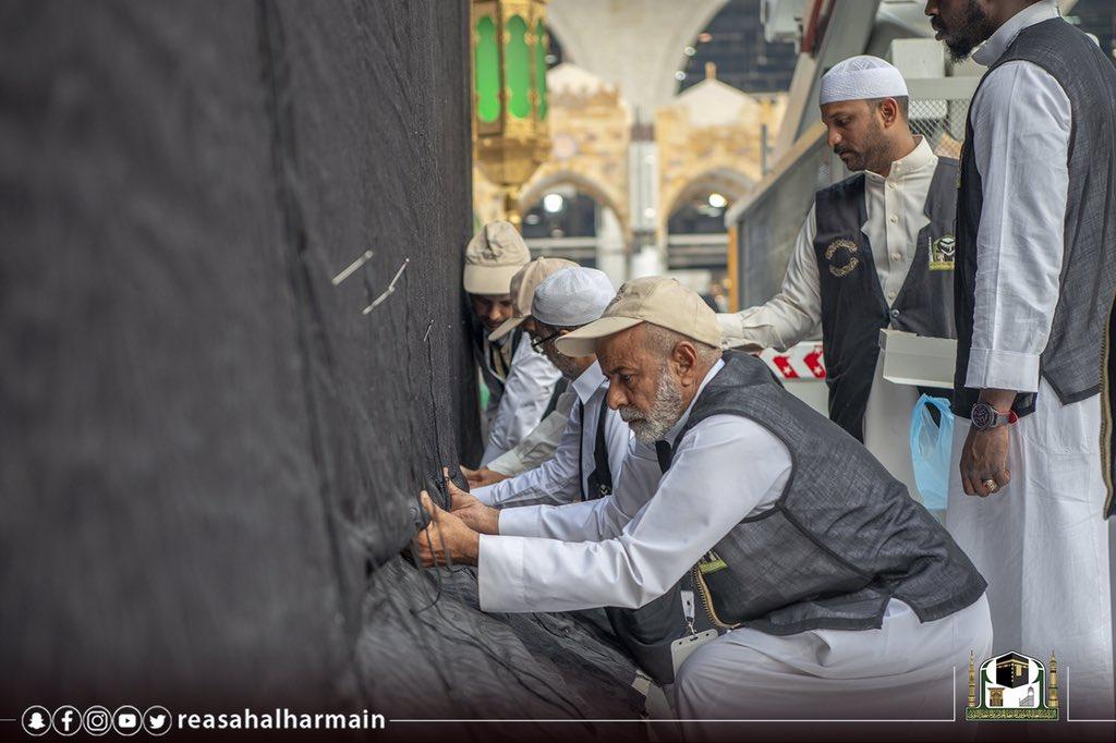 رئاسة الحرمين تباشر إسدال وتثبيت Dnx2sEDXsAE_d8l.jpg