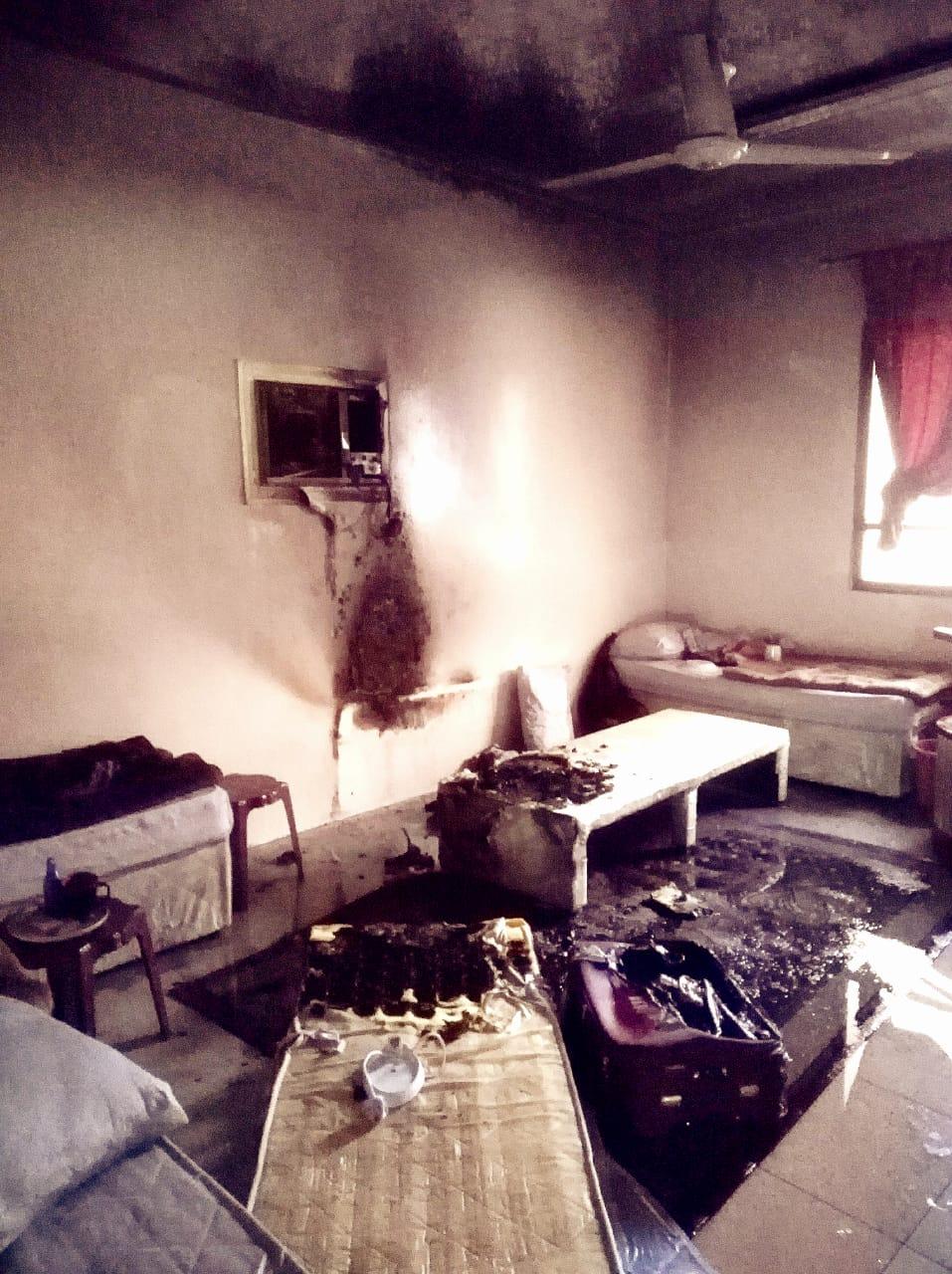 مدني المدينة يباشر حريقا في أحد الفنادق