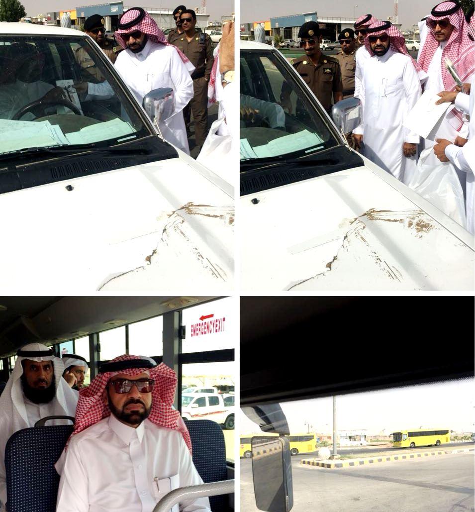 مدير تعليم عفيف يدشن حافلات النقل المدرسي