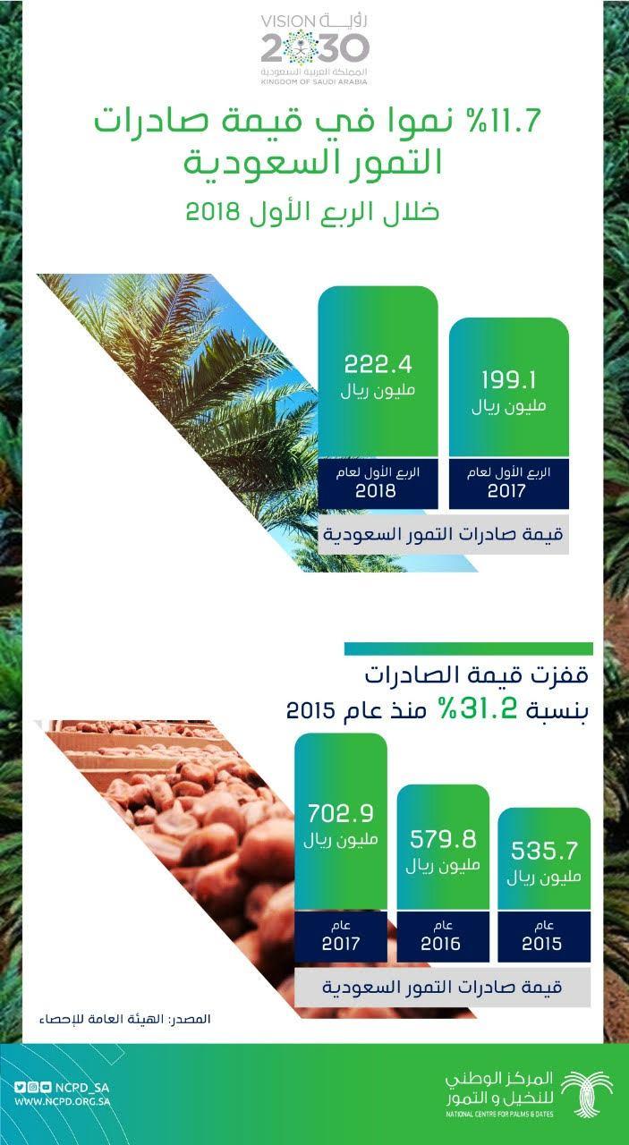 «%11.7» ارتفاعًا في صادرات التمور السعودية