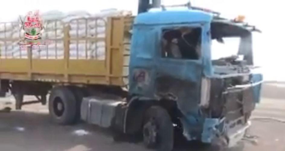 برنامج الأغذية العالمي يتحاشى إدانة الحوثي في تفجير شاحنة رغم توثيقهم للعملية بالفيديو