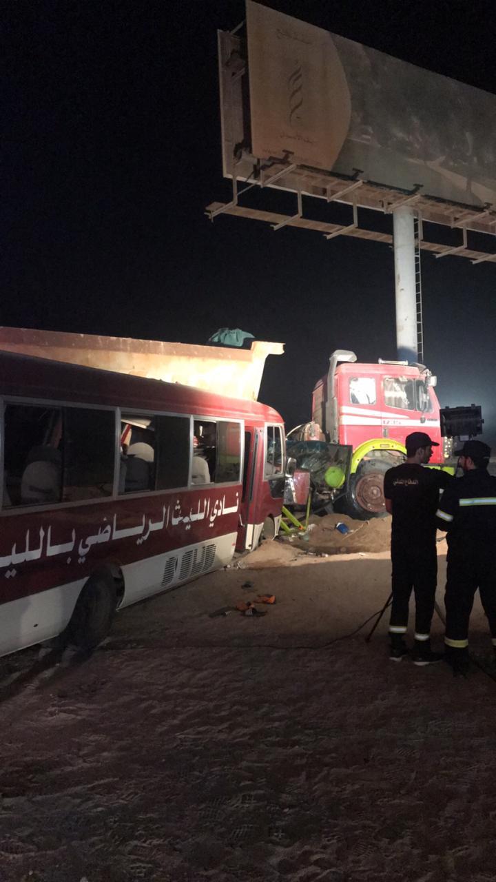 إصابة 9 أشخاص بتصادم محطة خمسة نجوم في مكة