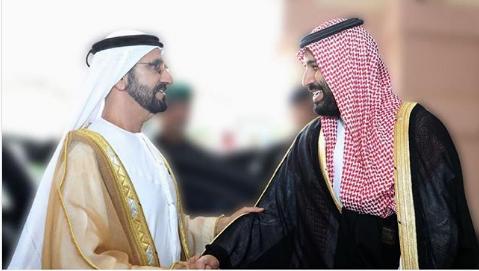 محمد بن راشد للأمير محمد بن سلمان: يا جبل ما يهزك ريح.. كلنا في صفك إخوانك