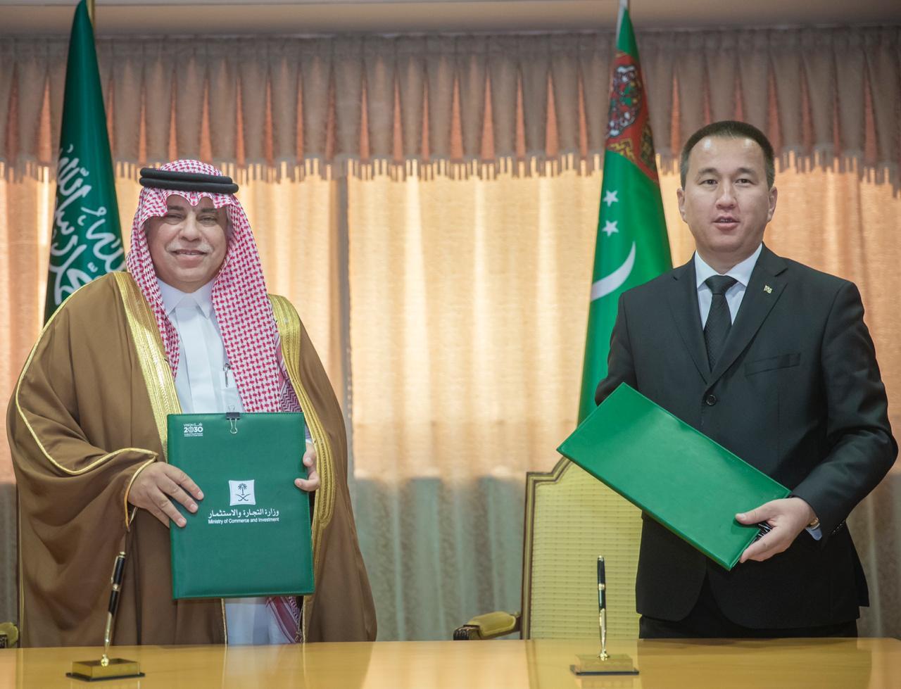 اتفاق بين المملكة وتركمانستان لبحث إقامة المشروعات و الفرص الاستثمارية