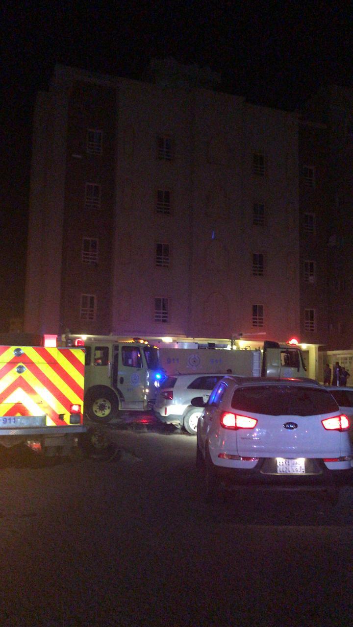 اختناق 11 شخصاً بحريق شقة سكنية بجدة