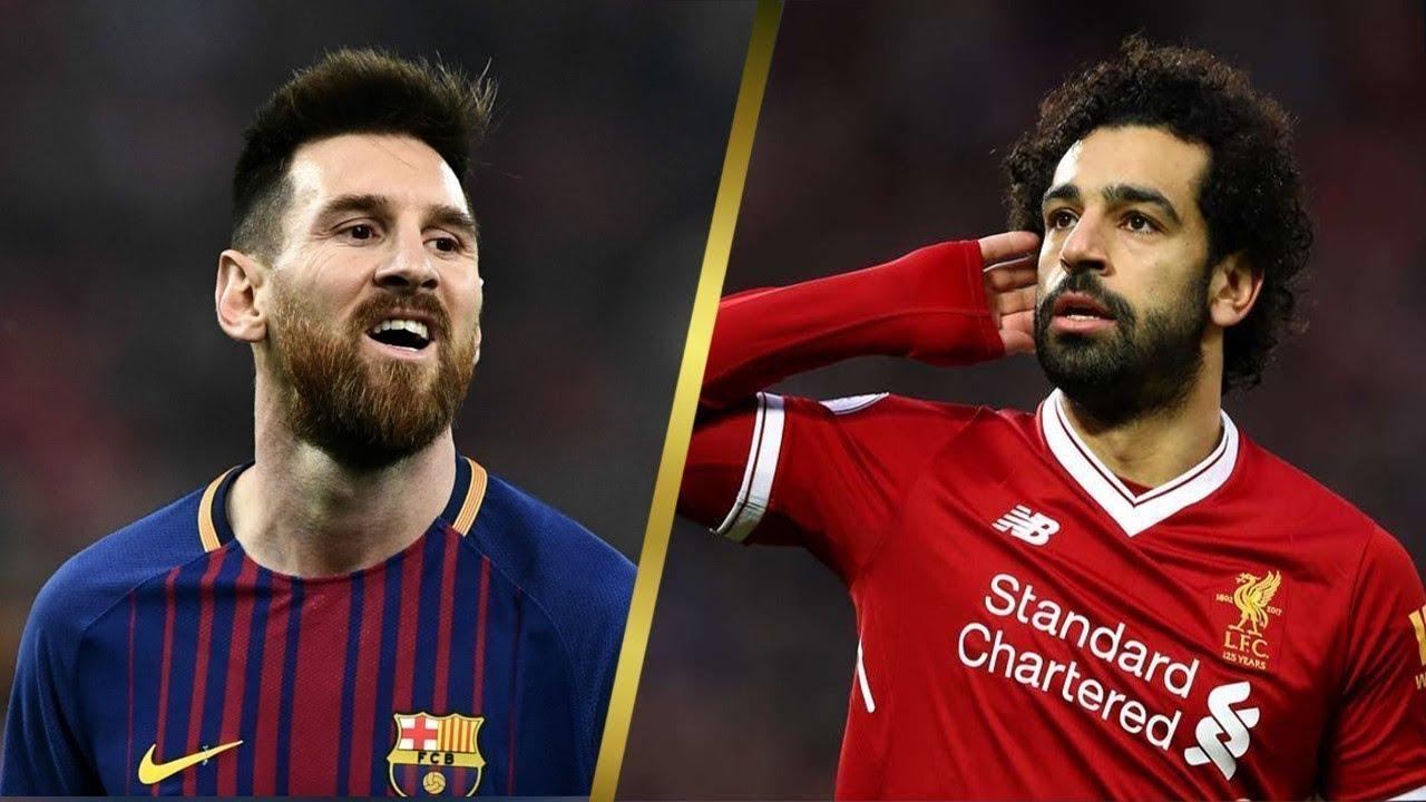 """""""ميسي"""" يُبارك صفقة انتقال محمد صلاح إلى برشلونة"""