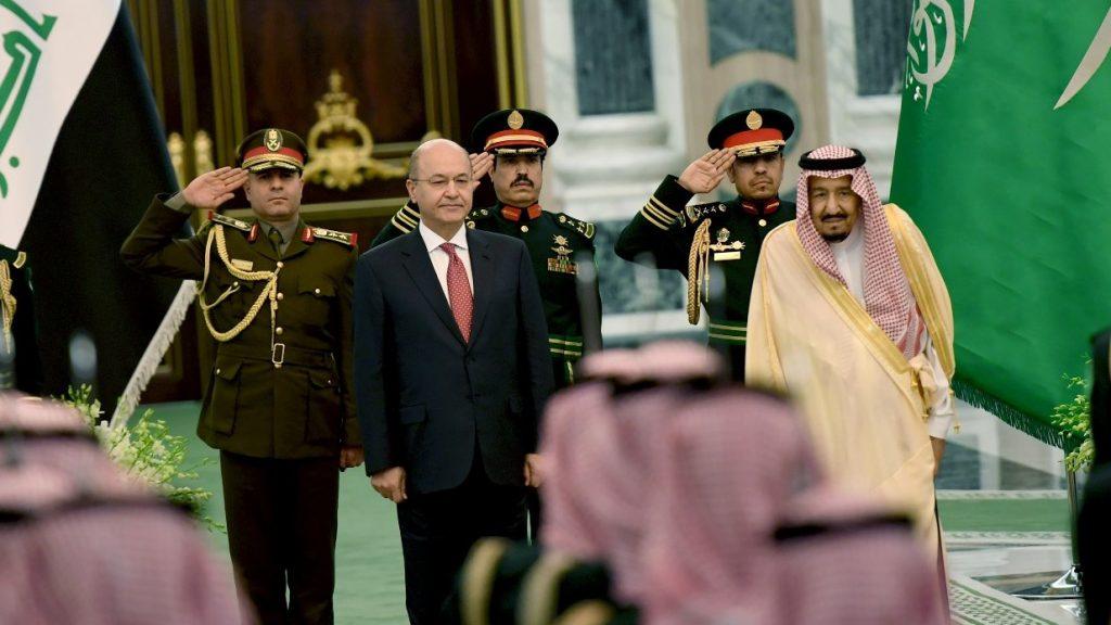خادم الحرمين يستقبل الرئيس العراقي .. ويقيم مأدبة غداء تكريما له