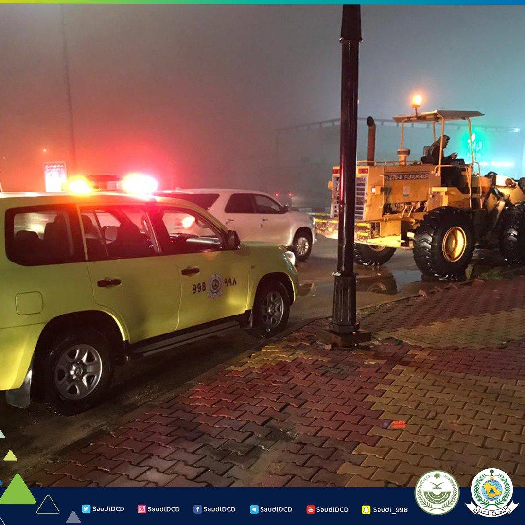إنقاذ ١٠ محتجزين في ٨ مركبات نتيجة الأمطار بالدوادمي