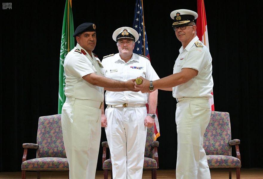 """""""البحرية السعودية"""" تسلم مهام قيادة قوة الواجب المختلطة 150 للفريق الكندي في البحرين"""