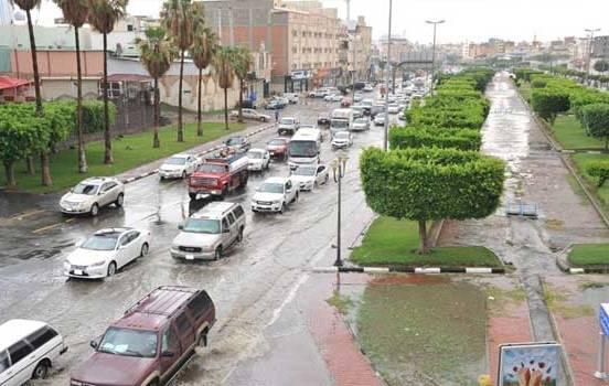 هطول أمطار رعدية في جازان وعسير والطائف