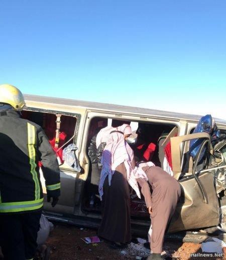 إصابة عدد من المعلمات إثر حادث تصادم في حائل
