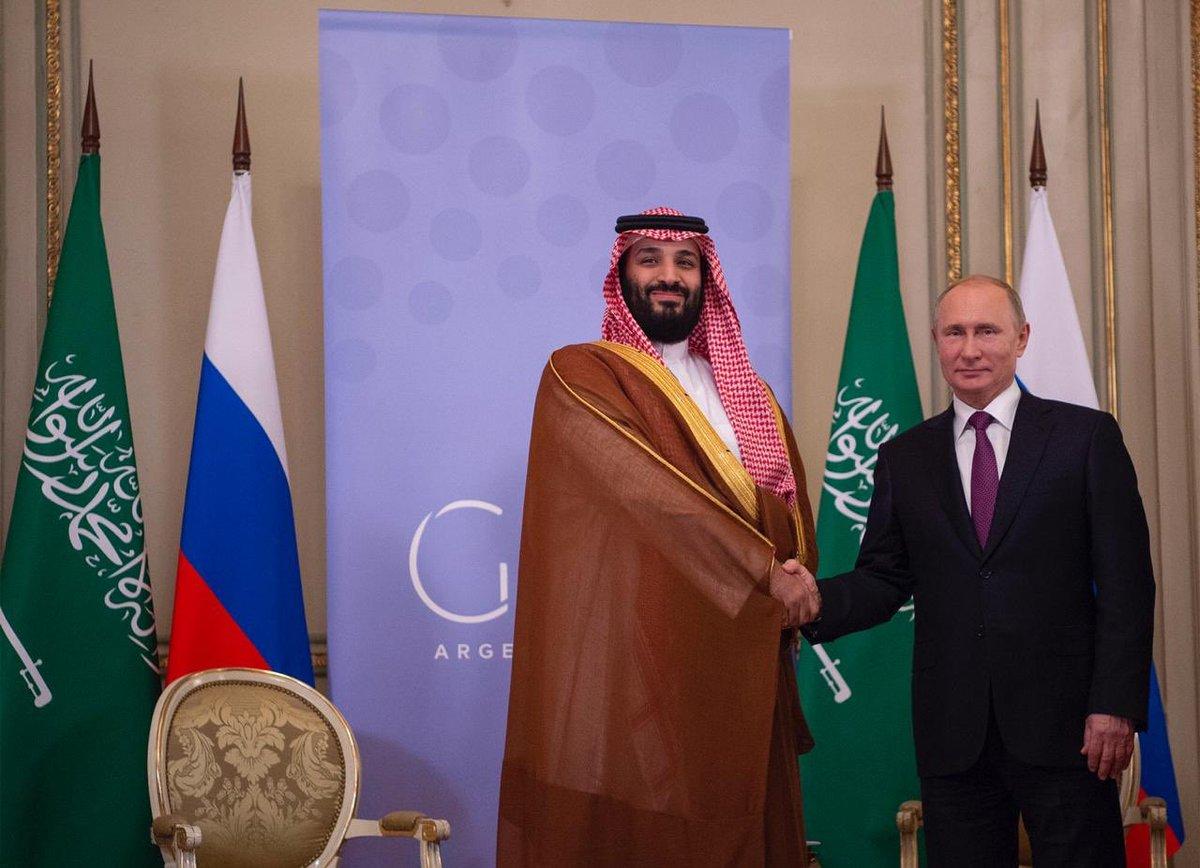 ولي العهد محمد بن سلمان يلتقي الرئيس الروسي على هامش قمة العشرين
