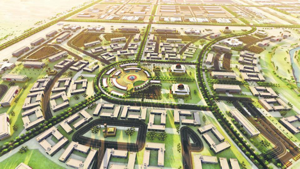 """ولي العهد يضع حجر أساس مدينة الملك سلمان للطاقة """"سبارك"""""""