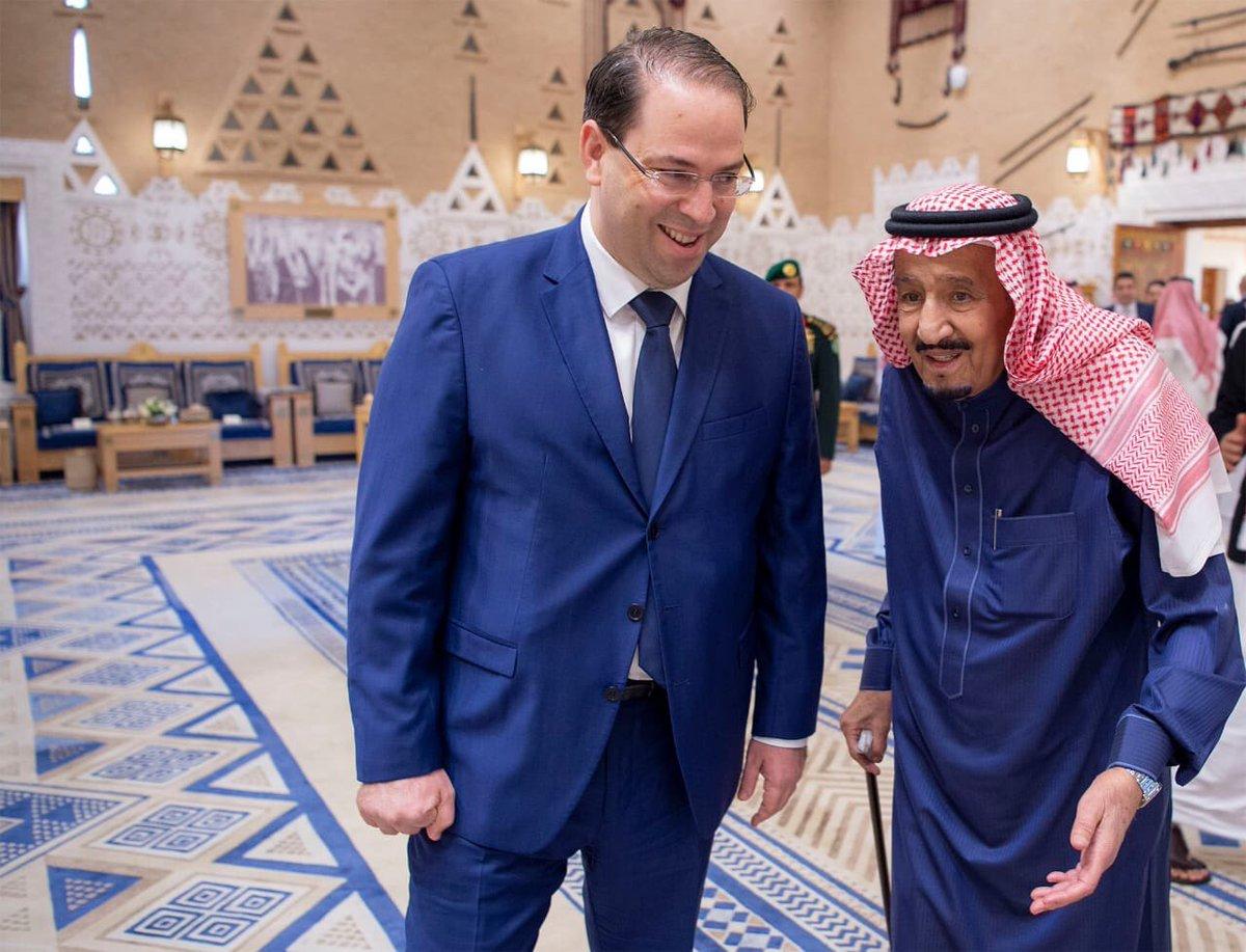 الملك سلمان ورئيس الحكومة التونسية يحضران توقيع اتفاقيتين ومذكرة تفاهم بين المملكة وتونس