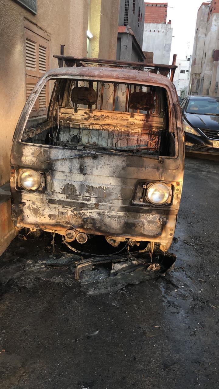 بالصور.. القبض على وافد مخالف حرق 5 مركبات في جدة