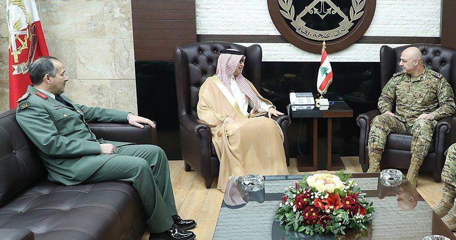 سفير السعودية لدى لبنان يلتقي قائد الجيش اللبناني