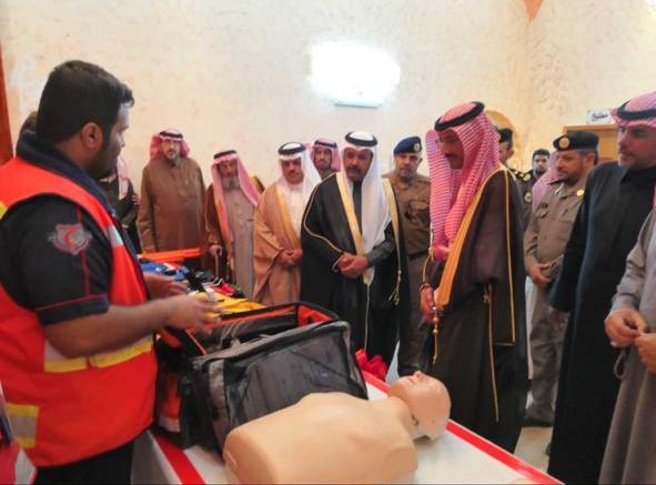 افتتاح مركزي إسعاف للهلال الأحمر في عسير