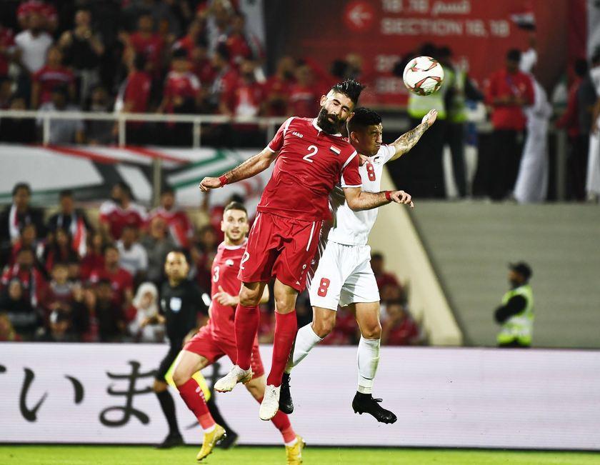 التعادل السلبي يحسم مباراة فلسطين وسوريا في كأس آسيا 2019