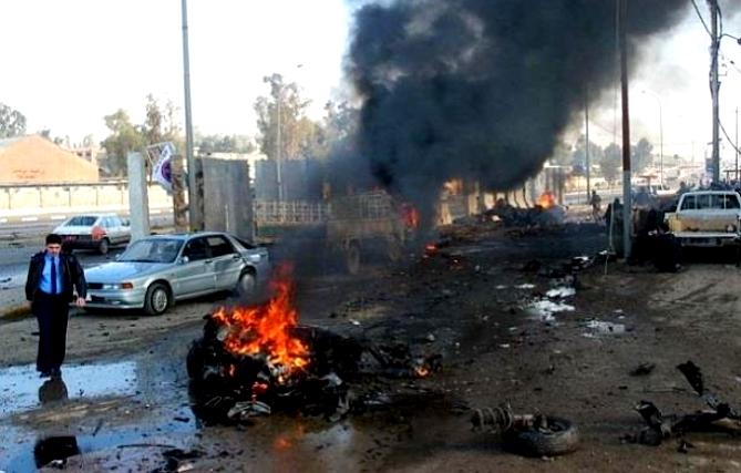 مقتل إمرأة وجرح أطفال في تفجيرات العراق