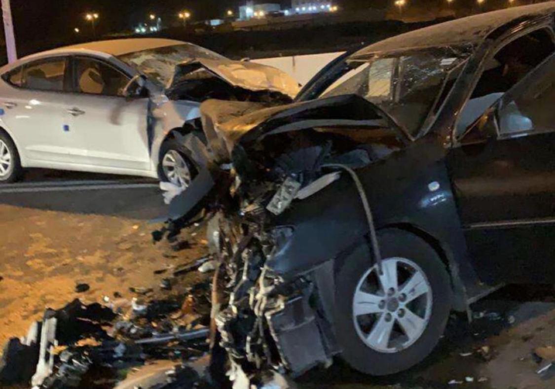 بالصور.. حالة وفاة وإصابات خطرة في تصادم بقلوة