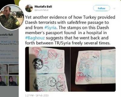 """جواز سفر يكشف علاقة تركيا الخفية بـ""""داعش"""""""