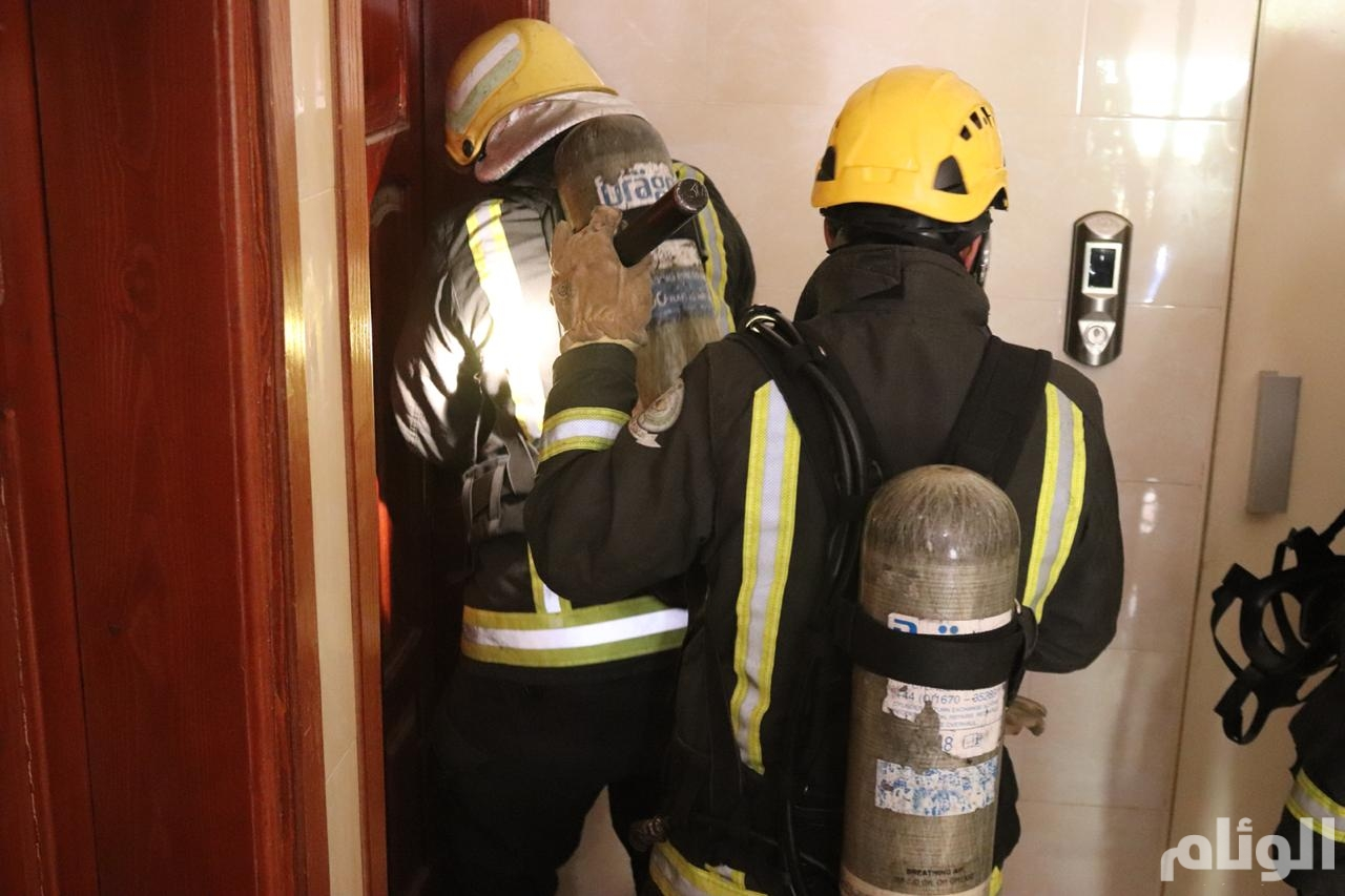 اندلاع حريق في شقة سكنية شمال الطائف