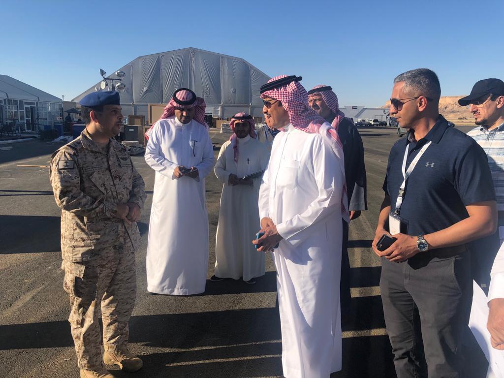 سلطان بن سلمان يقف ميدانيا على استعدادات المعرض السعودي الدولي للطيران