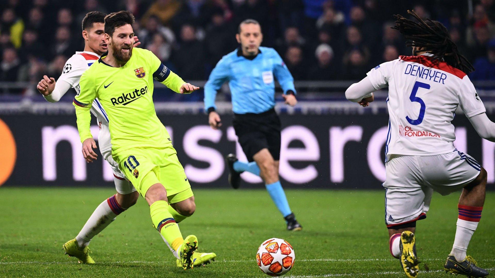 مشاهدة مباراة برشلونة وليون بث مباشر