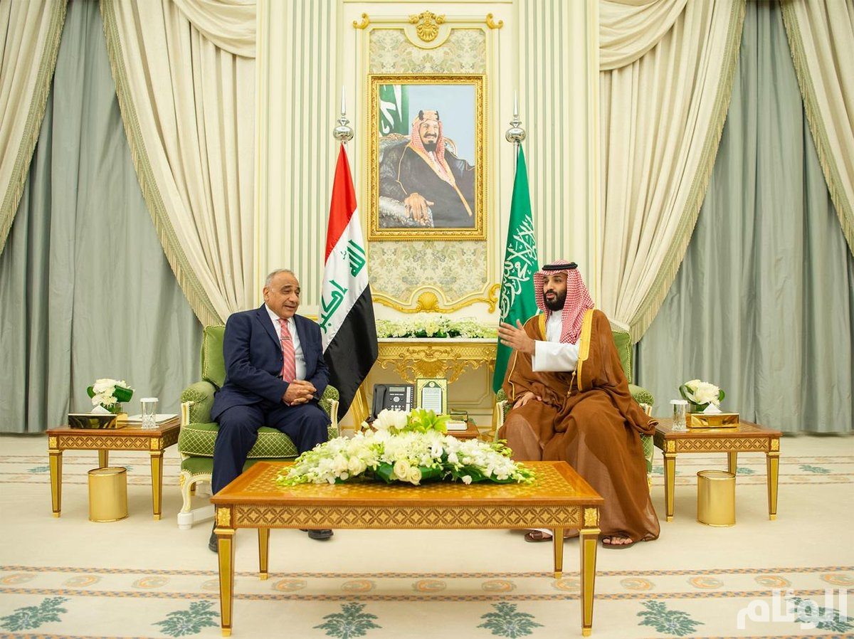 ولي العهد يلتقي رئيس وزراء العراق ويعقدان جلسة مباحثات رسمية