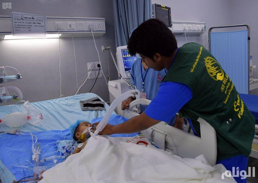 الفريق الطبي بمركز الملك سلمان للإغاثة يجري 15 عملية لأطفال المكلا باليمن (صور)
