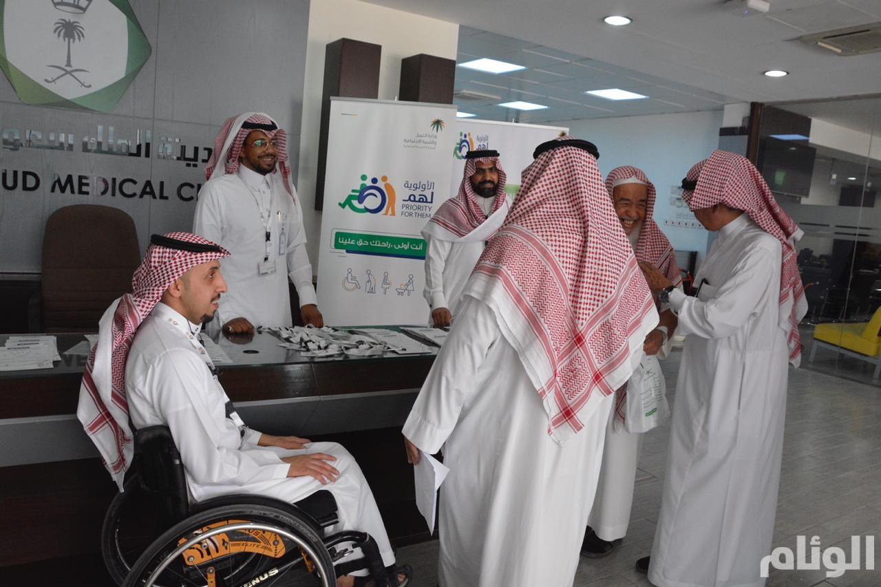 """بالصور.. تعريف أكثر من 3000 شخص بمبادرة """"الألوية لهم"""" في الرياض"""