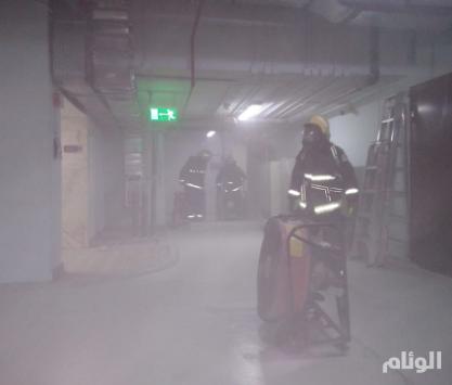 حريق يلتهم غرفة محولات كهربائية ببدروم فندق بالمنطقة المركزية بالمدينة المنورة