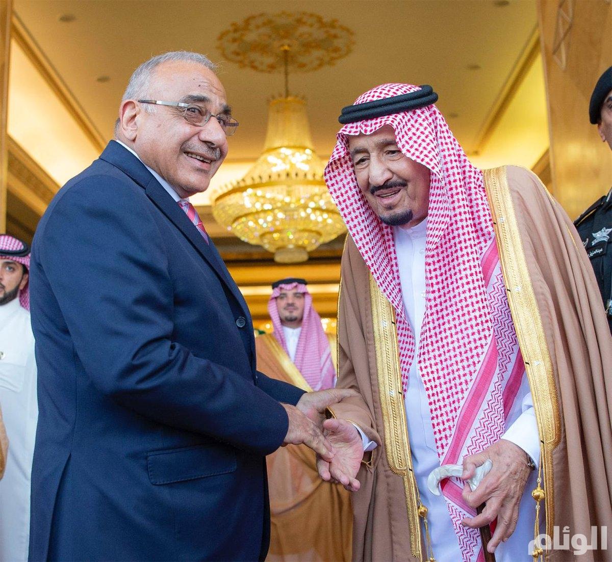 خادم الحرمين: السعودية تقف مع العراق ويجمعنا به الدين والأمن والمصالح المشتركة