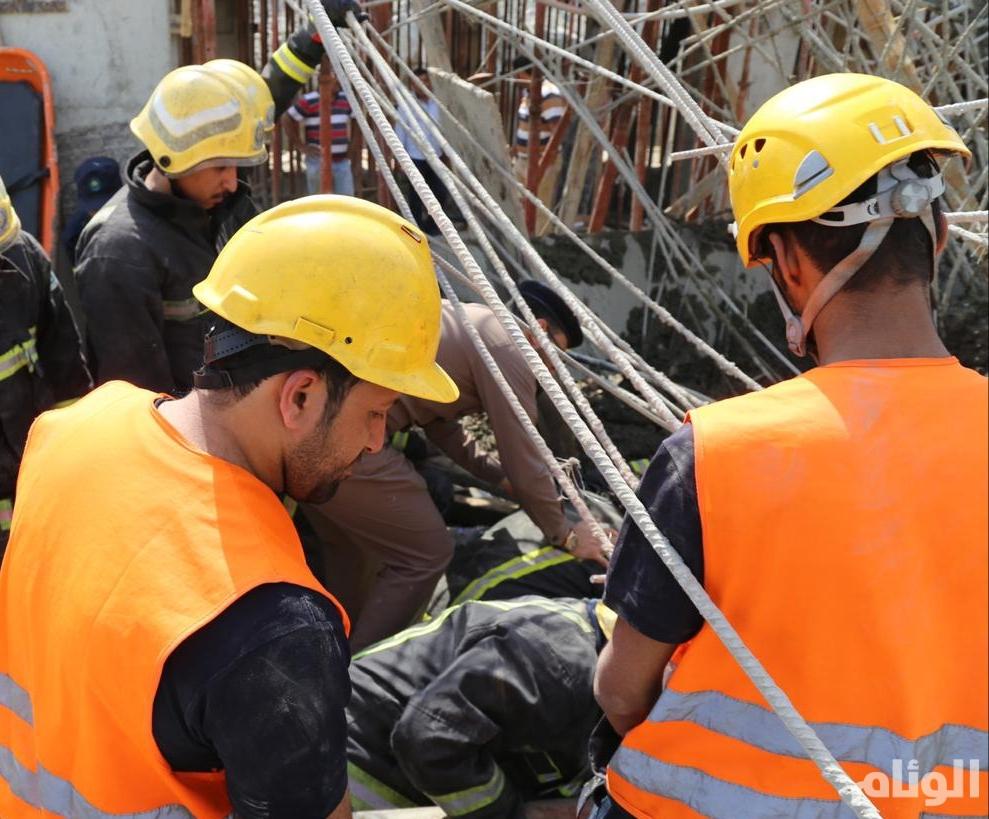 وفاة عامل وإصابة آخر في انهيار مبنى تحت الإنشاء بمكة