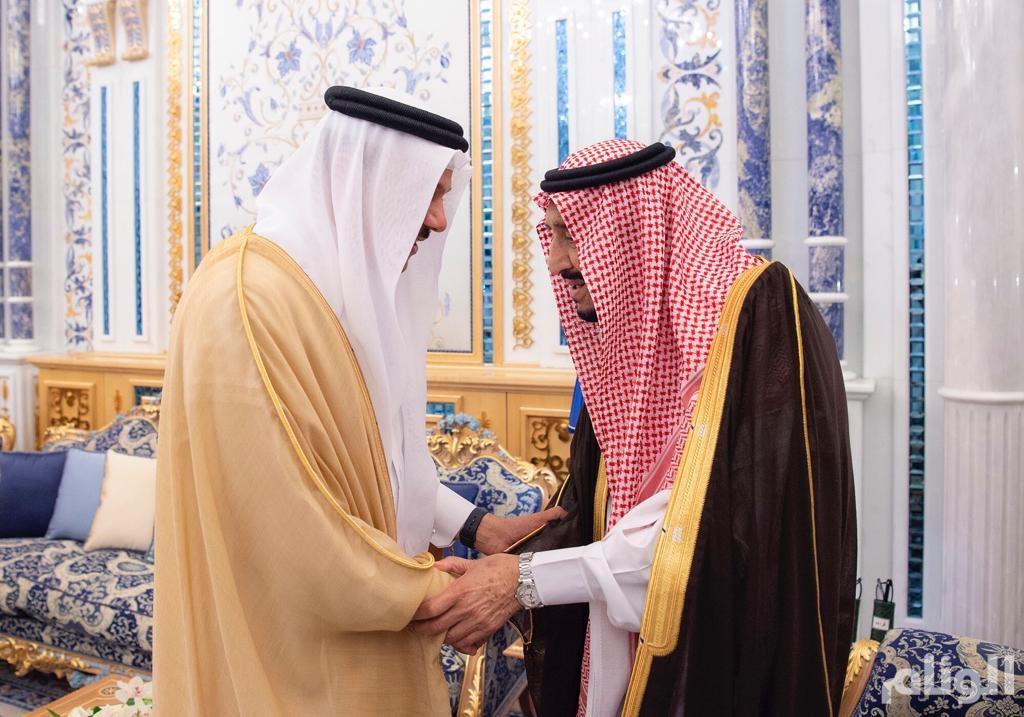 خادم الحرمين يستقبل الأمين العام لمجلس التعاون الخليجي وعميد السلك الدبلوماسي