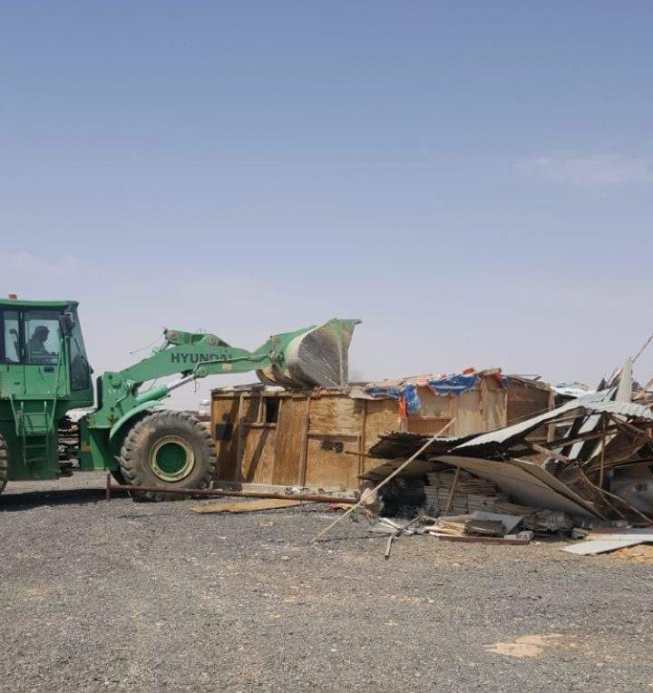 الرياض: إزالة 151 حظيرة عشوائية وتعديات على حرم الطريق