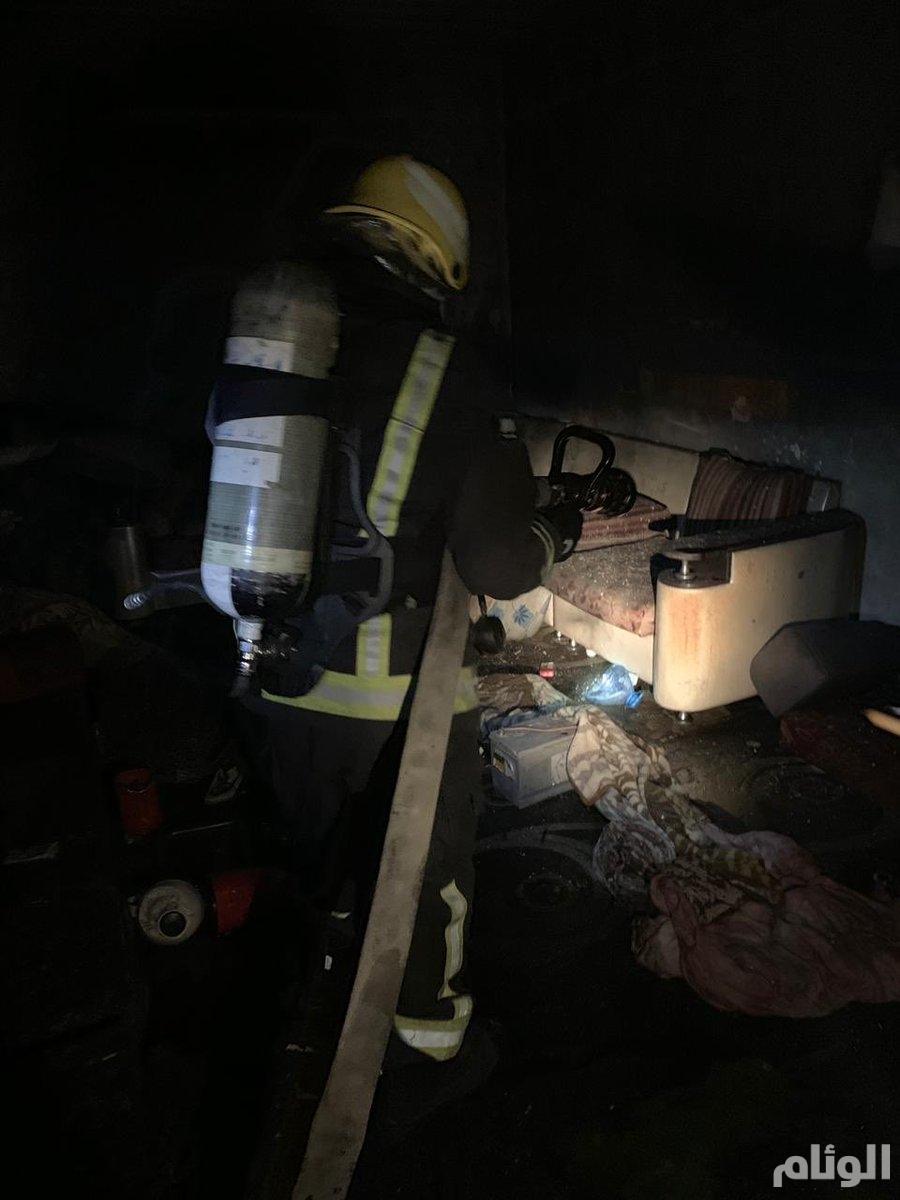 إصابة 5 بحروق خطيرة في حريق بمنزل شعبي بأبها