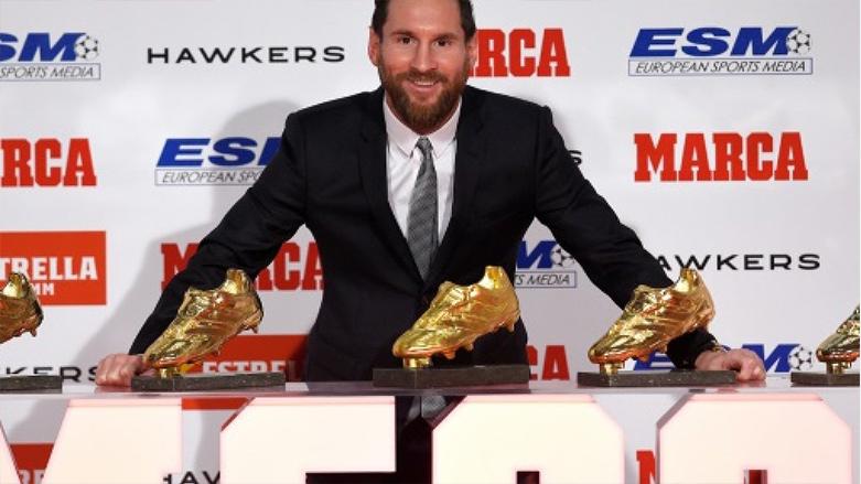 ميسي والحذاء الذهبي.. للعام الثالث على التوالي