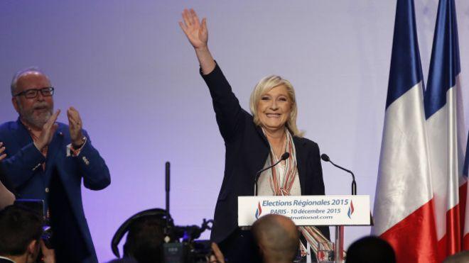 مارين لوبان تعلن فوزها على حزب ماكرون في الانتخابات الأوروبية