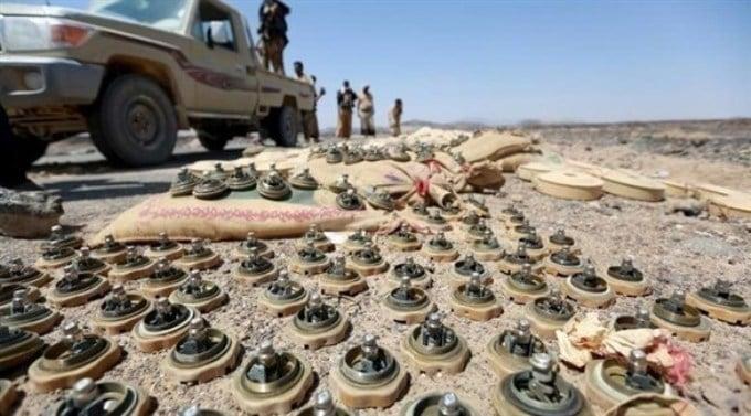 إنتزاع 1329 لغماً حوثياً في اليمن