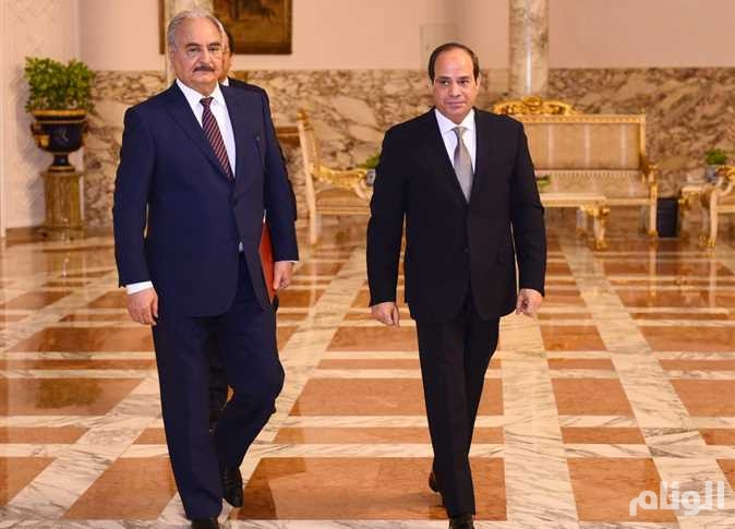 حفتر يشيد بجهود مصر في مكافحة الإرهاب ودعم الحلول السياسية للأزمات العربية