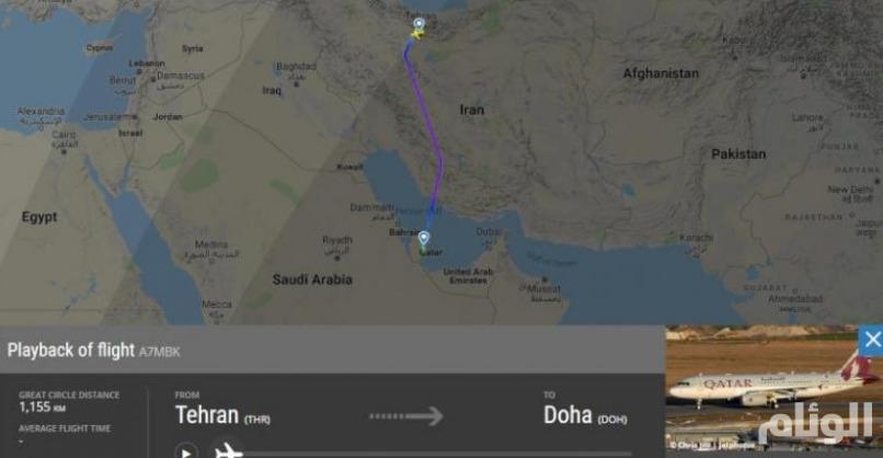 رصد طائرة أميرية قطرية حطت سريا في طهران.. هل زار أمير الدوحة إيران لإنقاذها؟