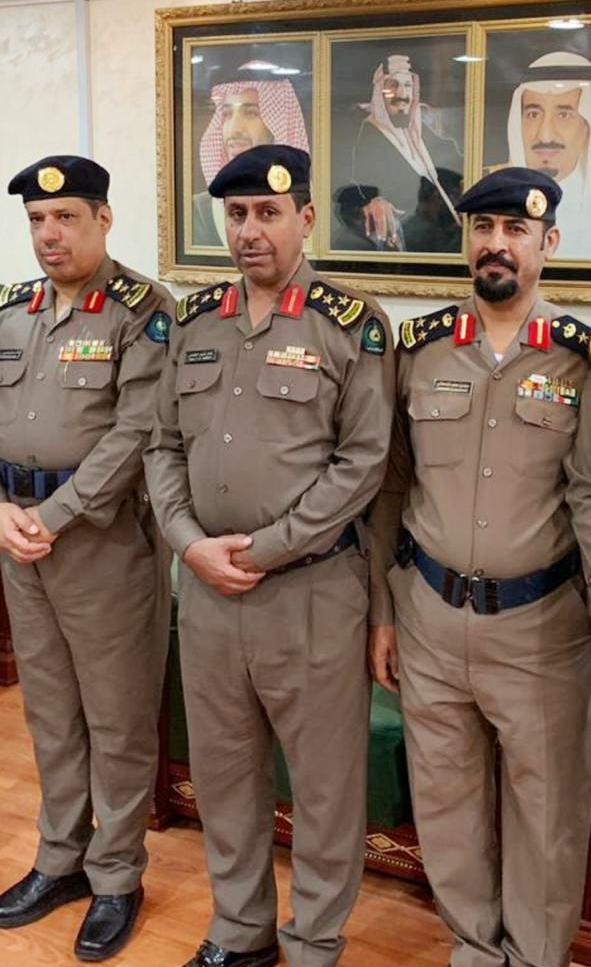 بالصور: «القحطاني» و «الفعر» إلى رتبة العميد في مدني الطائف