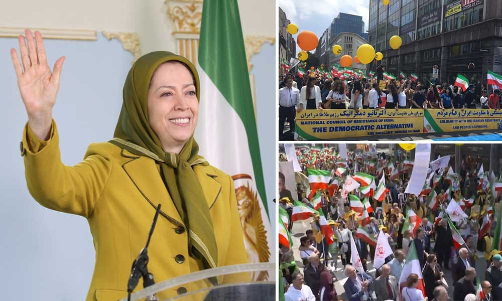 تظاهرة حاشدة للإيرانيين في بروكسل ومطالبات بفرض عقوبات شاملة على نظام الملالي