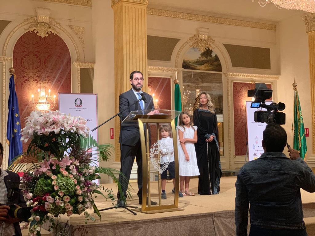 جامعة الأعمال والتكنولوجيا تشارك احتفال القنصلية الإيطالية باليوم الوطني