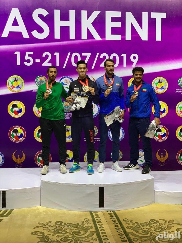 طارق حامدي يحقق ذهبية البطولة الآسيوية الـ16 للكاراتيه.. والأخضر رابعاً في الترتيب العام