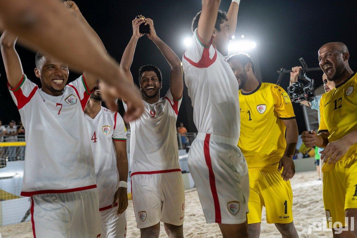 عمان بطلا للبطولة الدولية لكرة القدم الشاطئية المقامة في نيوم