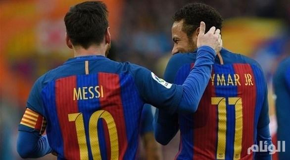 ميسي يهدد برشلونة بالرحيل بسبب نيمار